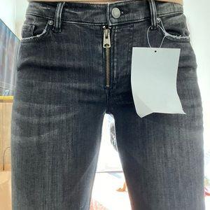 NWT ALLSAINTS Moto zip jeans